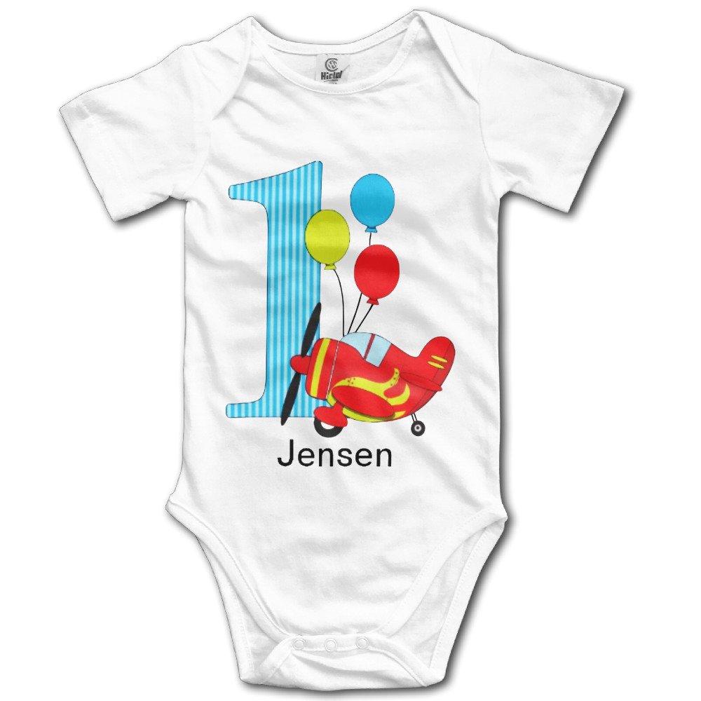 Avión primer cumpleaños personalizada Unisex Bebé Onesie ...