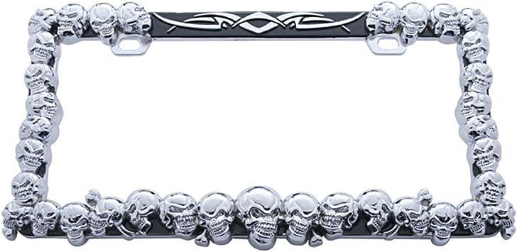 United Pacific 50116 Black Skull License Plate Frame