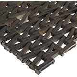 "Durable Durite Recycled Tire-Link Outdoor Entrance Mat, Herringbone Weave, 24"" x 36"", Black"