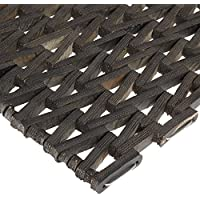"Durable Durite Recycled Tire-Link Outdoor Entrance Mat, Herringbone Weave, 24"" x 72"", Black"