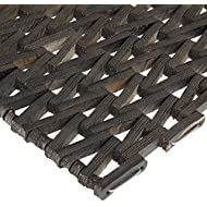 """Durable Corporation 108 Recylcled Tire-Link Anti-Fatigue Mat, for Wet Areas, Herringbone Weave, 17"""" Width x 25"""" Length x 5/8"""" Thickness, Black"""