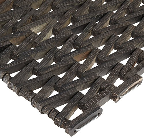 Durable Durite Recycled Tire-Link Outdoor Entrance Mat, Herringbone Weave, 17'' x 25'', Black by Durable Corporation