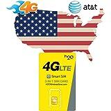 Prepaid Sim-Karte USA - 3GB 4G LTE - Unbegrenzte internationale Anrufe und Sms - 30 Tage