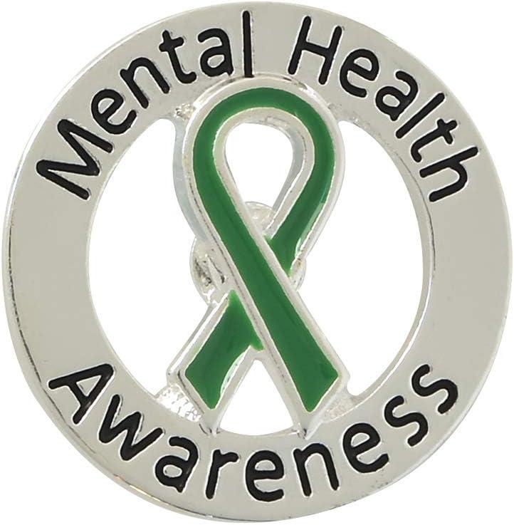 5 Pack Mental Health Awareness Pins 5 Pins in a Bag