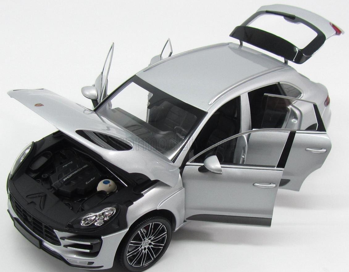 Porsche Macan Turbo, silber, 2013, Modellauto, Fertigmodell, Minichamps 1:18