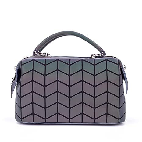 Bolso de la Manera de Las Mujeres Luminoso Saco Bao Bag Tote Geometry Bolsos de Hombro