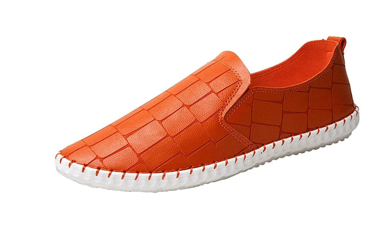 ICEGREY Herren Mokassin Mikrofaser Loafers Fahren Freizeitschuhe Slippers Orange 40 EU xqB4Cg