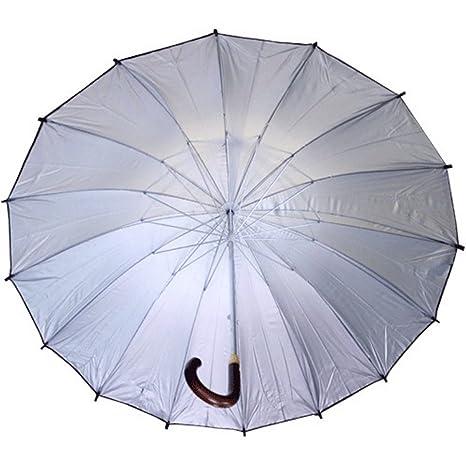 PACK 3 Paraguas mango de madera - Color negro - UM-228 (Diámetro 1