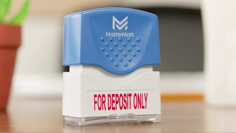 for Deposit Only Stamp MasterMark Premium Pre-Inked Office Stamp