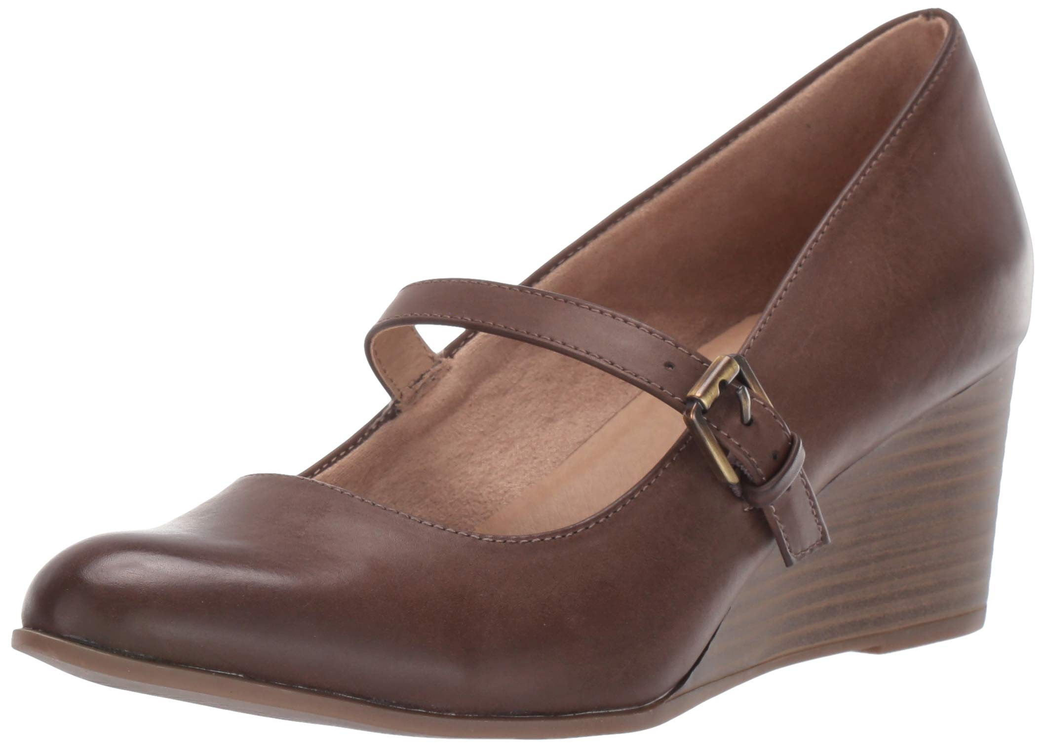 SOUL Naturalizer Women's Goldie Pump, Taupe Smooth, 6 M US by SOUL Naturalizer