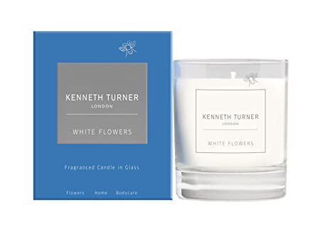 White Flowers Luxury Home Fragrance Scented Candle In A Glass By