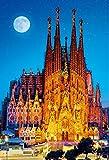 1000ピース ジグソーパズル 世界遺産 月夜のサグラダ・ファミリア(49x72cm)