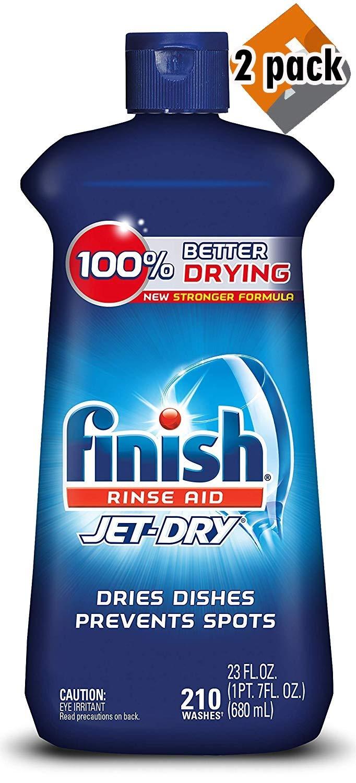 Finish Jet Dry Rinse Aid, Dishwasher Rinse Agent, 23 oz - 2 Pack