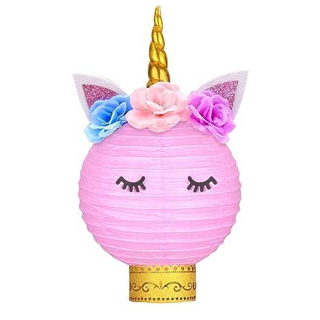 Amazon.com: Unicornio decoración de fiesta de cumpleaños ...