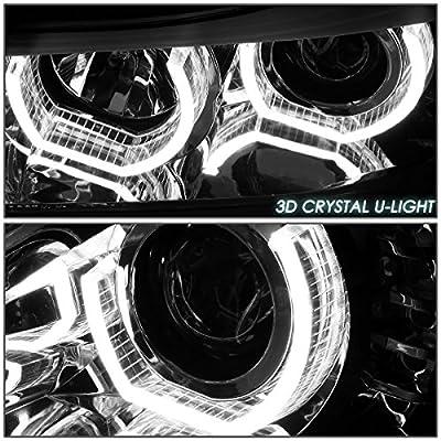 DNA Motoring Chrome Housing HL-3D-F3013-CH LED DRL U-Halo Projector Headlight[12-16 BMW F30 3-Series]: Automotive
