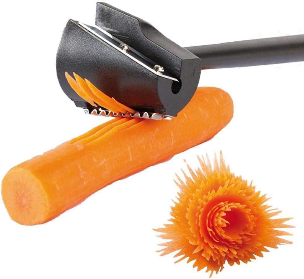 TXIN Carrot Curler and Peeler, Black Carrot Spiral Shred Slicer Root Vegetables Fruits Slicer Sharpener Garnishing Tool