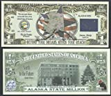 Alaska State Educational Million Dollar Bill W Map, Seal, Flag, Capitol - Lot of 100 Bills