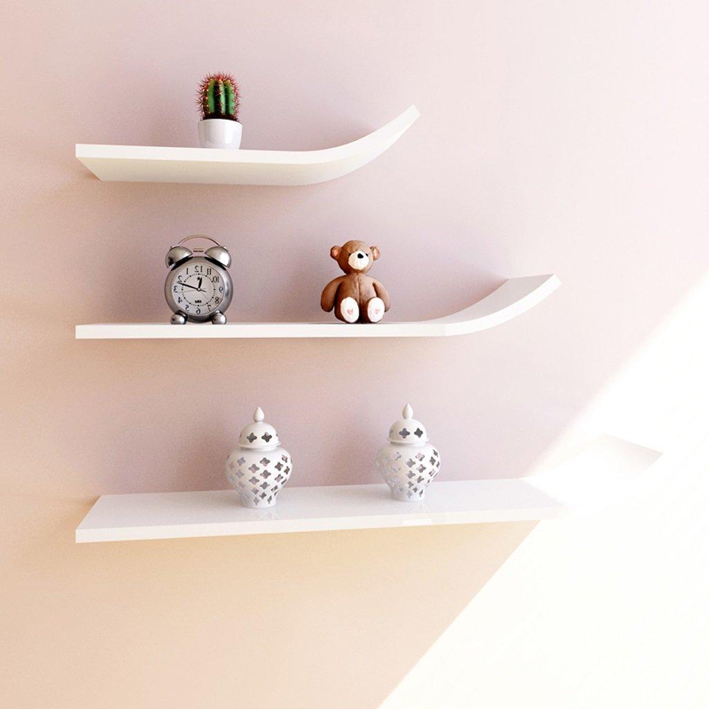 Wall Shelf Shelf Decoration Frame Bookshelf Fashion Busset TV Cabinet Background Wall J Type Storage Tower ( Color : White )