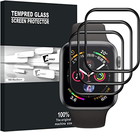 Apple Watch Series 4 44MM Protector de Pantalla, AVIDET Full ...