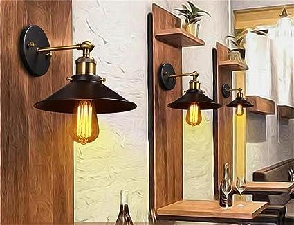 ... la industria del café del restaurante retro nórdica lámpara de pared de la habitación junto a la cama de hierro sola cabeza del paraguas negro creativa ...