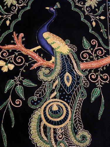 Novahaat Peacock Wall Hanging Rug Jewel Carpet Kashmir