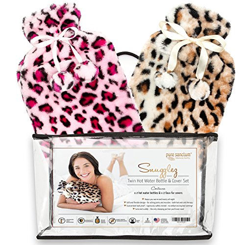 Use Hot Water Bottle (Hot Water Bottle & Cover - Set of 2 Hot Water Bottles & Furry Animal Print Covers for Hot & Cold Relief – Meet Snugglez)