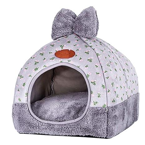Authda Cama para Mascotas para Gatos pequeños medianos y Perros Extra Suave cálida con Funda de