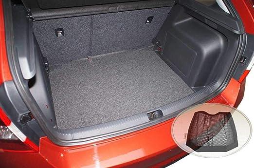 Zentimex Z3323311 Geriffelte Kofferraumwanne Fahrzeugspezifisch Klett Organizer Laderaumwanne Kofferraummatte Auto