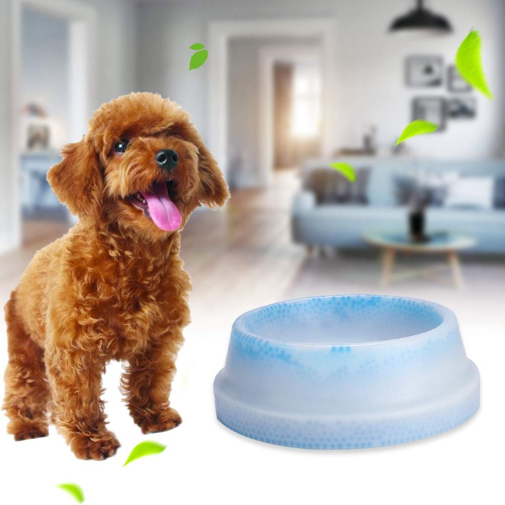 Pet Ice Frosty Bowl Dogs Cats Rabbit Cooling Bowl Frosty Chilled Pet Bowl Pet Cool Fresh Water Bowl Dog Cat Bowl Cooling Water Feeder Pet Summer Freezable Chilled Water Fountains