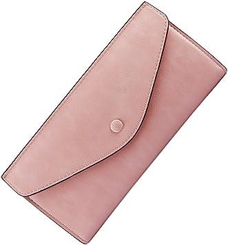 Monedero largo Dama/Envolvente de cerrojo ultrafino Pack/ carteras de gran capacidad-rosa: Amazon.es: Equipaje
