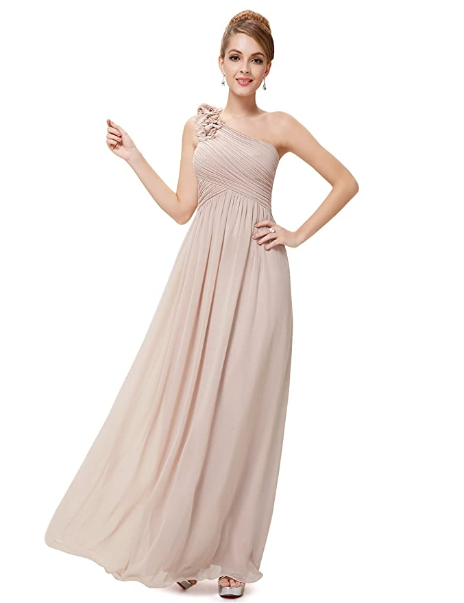 Ever Pretty Flower One Shoulder Long Bridesmaids Party Dress 08237 ...