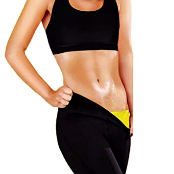 c41c69b06f OMG Womens Spa Slimming Pants Hot Thermo Neoprene Sauna Suit Body Shaper