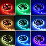 LightInTheBox Waterproof 20M(45M) 5050 RGB 600 LEDs Strip Lights with 44Key IR Remote Controller Kit and 12V 10A EU/US/AU/UK Power Supp Whit A Set Mounting Bracket