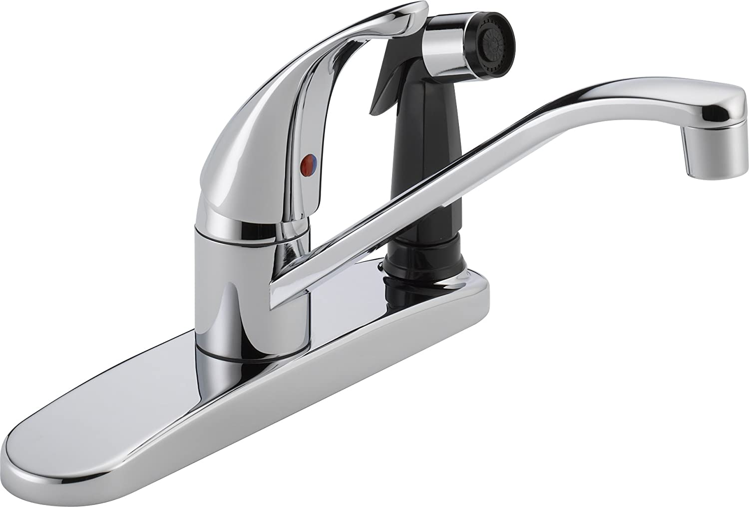 Peerless Single-Handle Kitchen Sink Faucet with Integrated Side Sprayer, Chrome P114LF