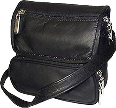 Cape Cod Leather Black Large All Leather Belt Bag  Handbags  Amazon.com 93f6397474a22