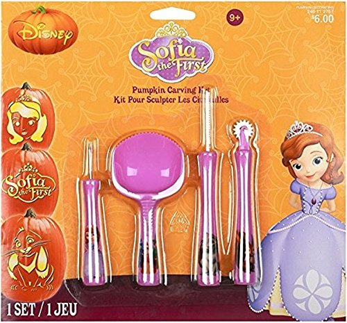 Sofia the First By Disney Pumpkin Carving Kit Includes 4 Tools and 7 Patterns! by Gemmy]()