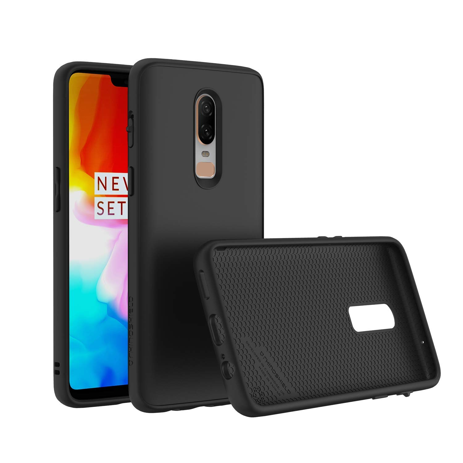 RhinoShield Case for OnePlus 6 [SolidSuit] | Shock Absorbent Slim Design  Protective Cover [3 5M/11ft Drop Protection] - Classic Black