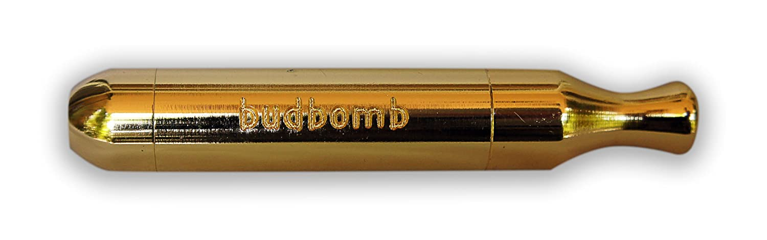 The ORIGINAL GOLD World Famous and Patented SMOKING Tobacco Pipe BUDBOMB