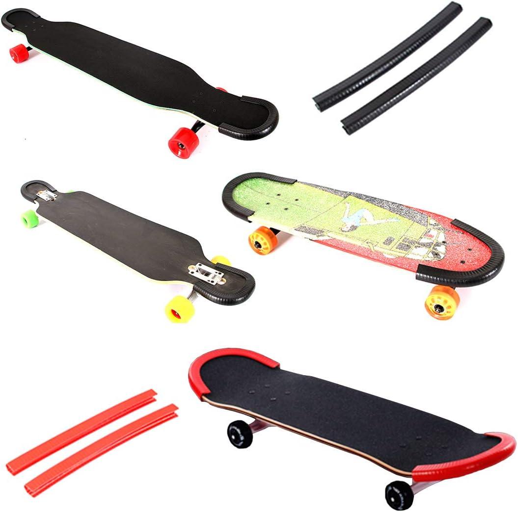 CUTICATE 5 St/ü Kunststoff Longboard Skateboard Deck Schutzstreifen Nose Tail Guard