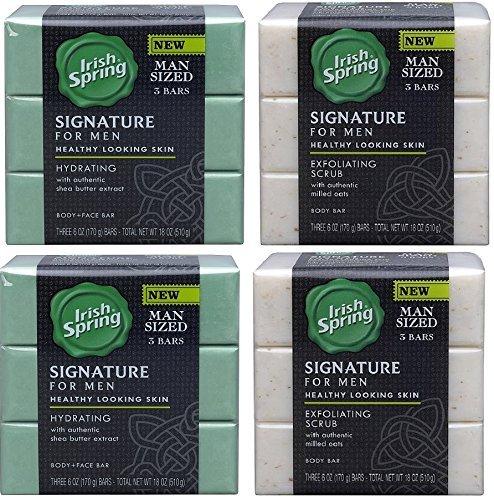 Irish Spring Signature Exfoliating Bar Soap, 6 oz, 3 ea