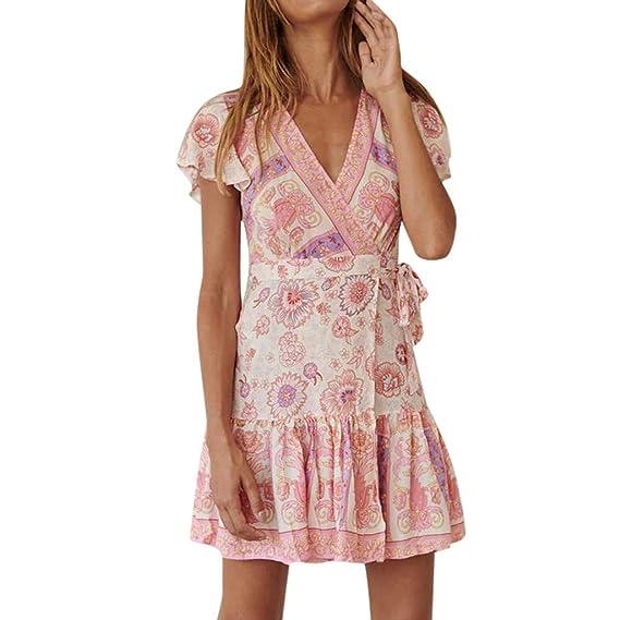 128a2c56b3 Bohemian Vestiti da Donna,Abito da donna,YanHoo Donne sexy Dress Boho  Casual High