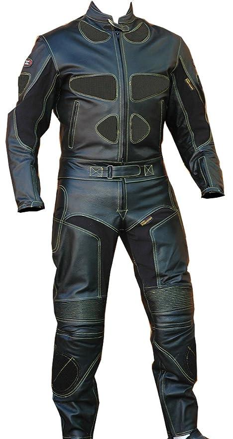 Amazon.com: Perrini - Traje de piel para motociclista con ...