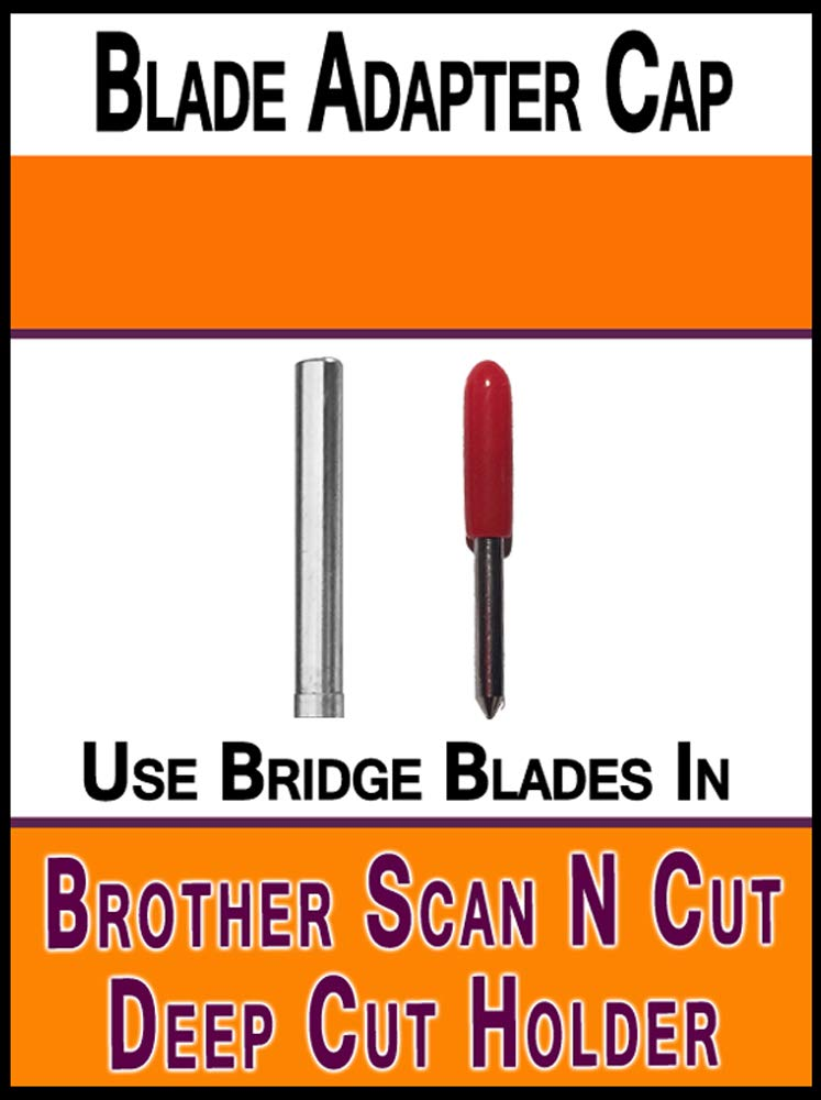 Brother ScanNCut Replacement Blade and Holder to make deep cut holder to use Bridge Deep Cut Standard German Carbide Blades Bridge Cutters BadptD