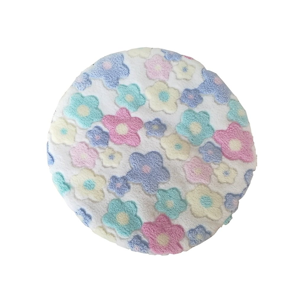 KTYX Pet Supplies Cute Wind Cotton Pad Small Flower Mat Small Dog Kennel Small Cushion Round Cushion Cat Kitten Nest Pet Bed