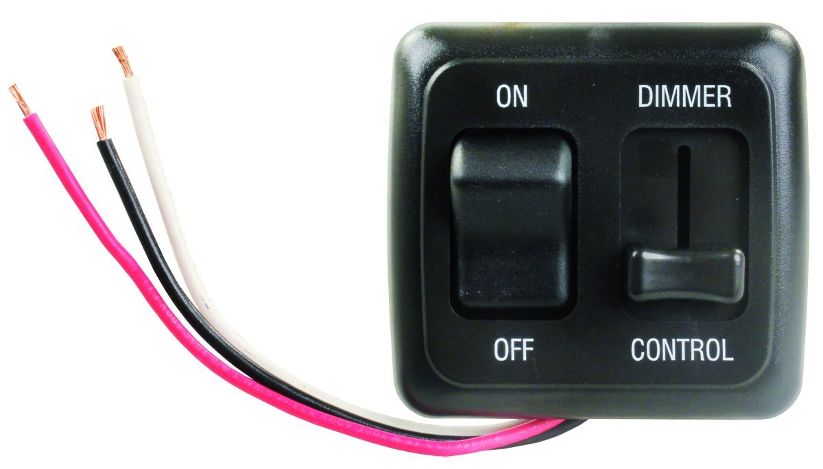 JR Products 15225 Black LED Dimmer On/Off Switch