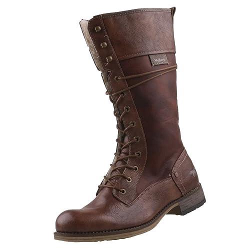 Mustang - Botas de Material Sintético para mujer marrón marrón, color marrón, talla 44 EU: Amazon.es: Zapatos y complementos