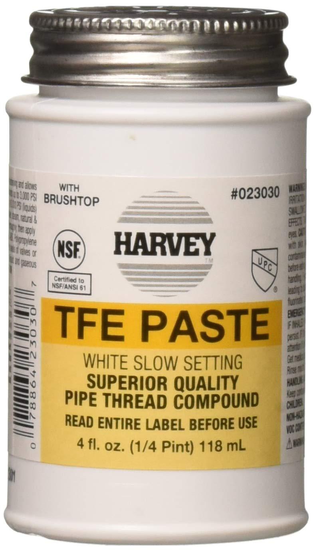 Harvey 23030 Oatey 0 Pipe Thread Compound, 4 Oz, Brush top Plastic Jar,