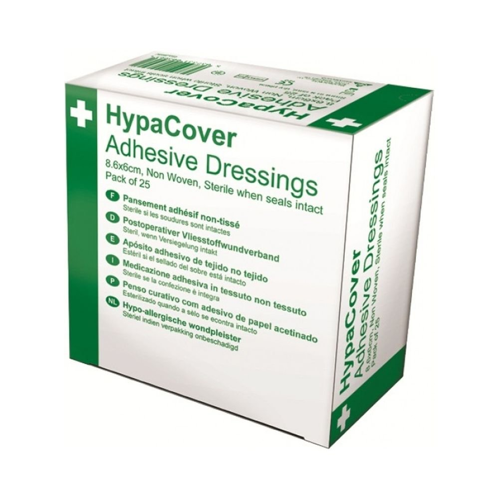 Safety First Aid D7137A HypaCover Medium Adhesive Dressing, Set of 25 AutoMotion Factors Limited