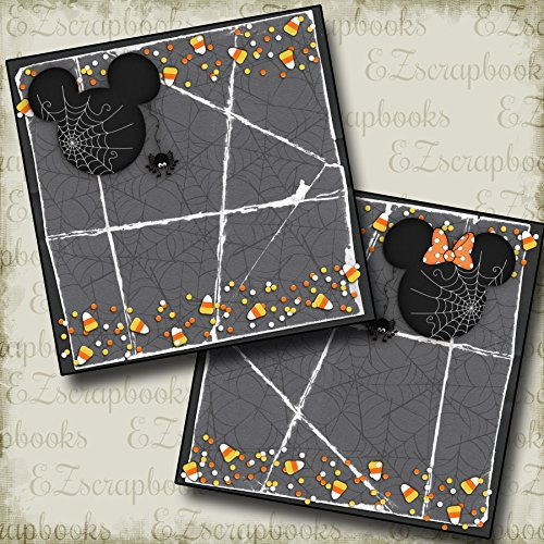 CANDY CORN MOUSE NPM - Premade Scrapbook Pages - EZ Layout 2366