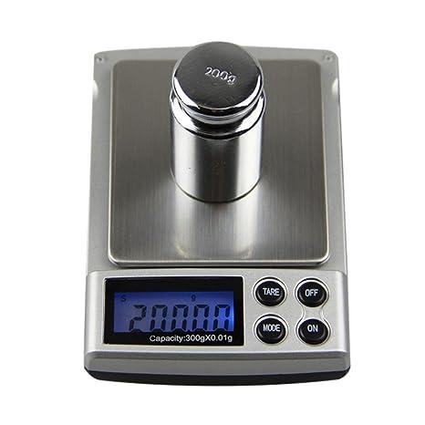 Báscula portátil, 300 g/0,01 Digital Industrial, Digital – Báscula,